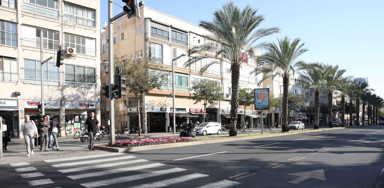 Ibn Gabirol Street in Tel Aviv  credit: Cadya Levy