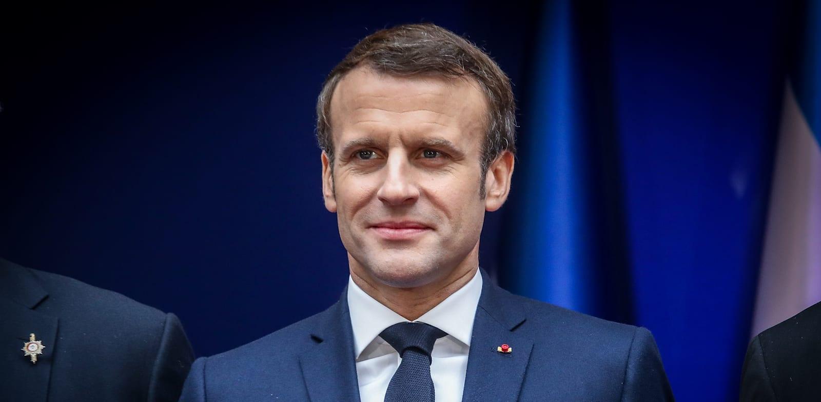 """נשיא צרפת, עמנואל מקרון / צילום: מארק ישראל סלם, """"ג'רוזלם פוסט"""""""