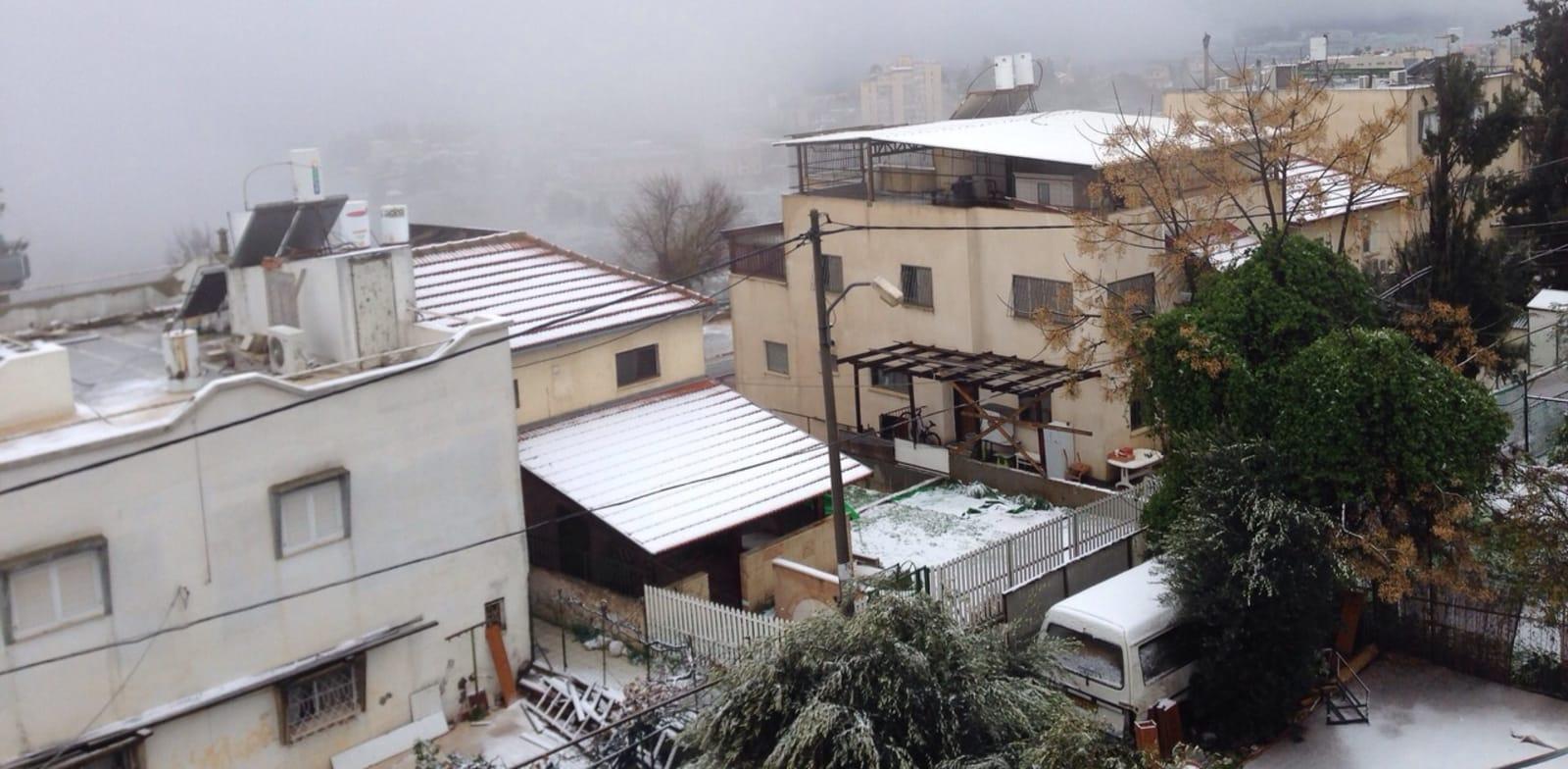 שלג בצפת / צילום: טליה בן לולו