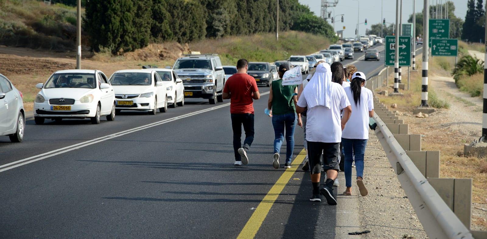 צעדה נגד האלימות ביישובים הערביים / צילום: איל יצהר