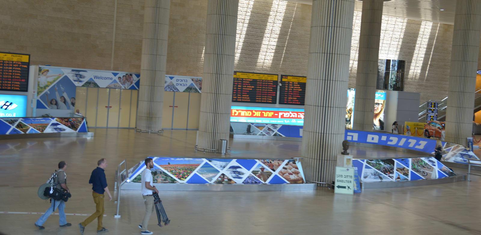 """נתב""""ג. הרבה ישראלים """"תקועים"""" כרגע בדובאי / צילום: תמר מצפי"""