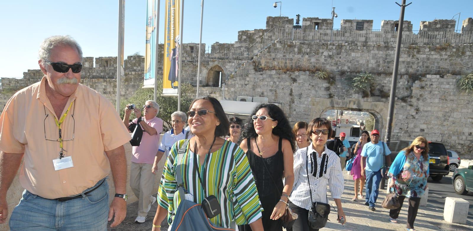 Tourists in Jerusalem  credit: Tamar Matsafi