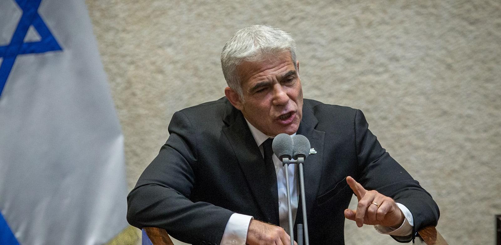 """יאיר לפיד, יו""""ר מפלגת יש עתיד / צילום: אורון בן חקון"""