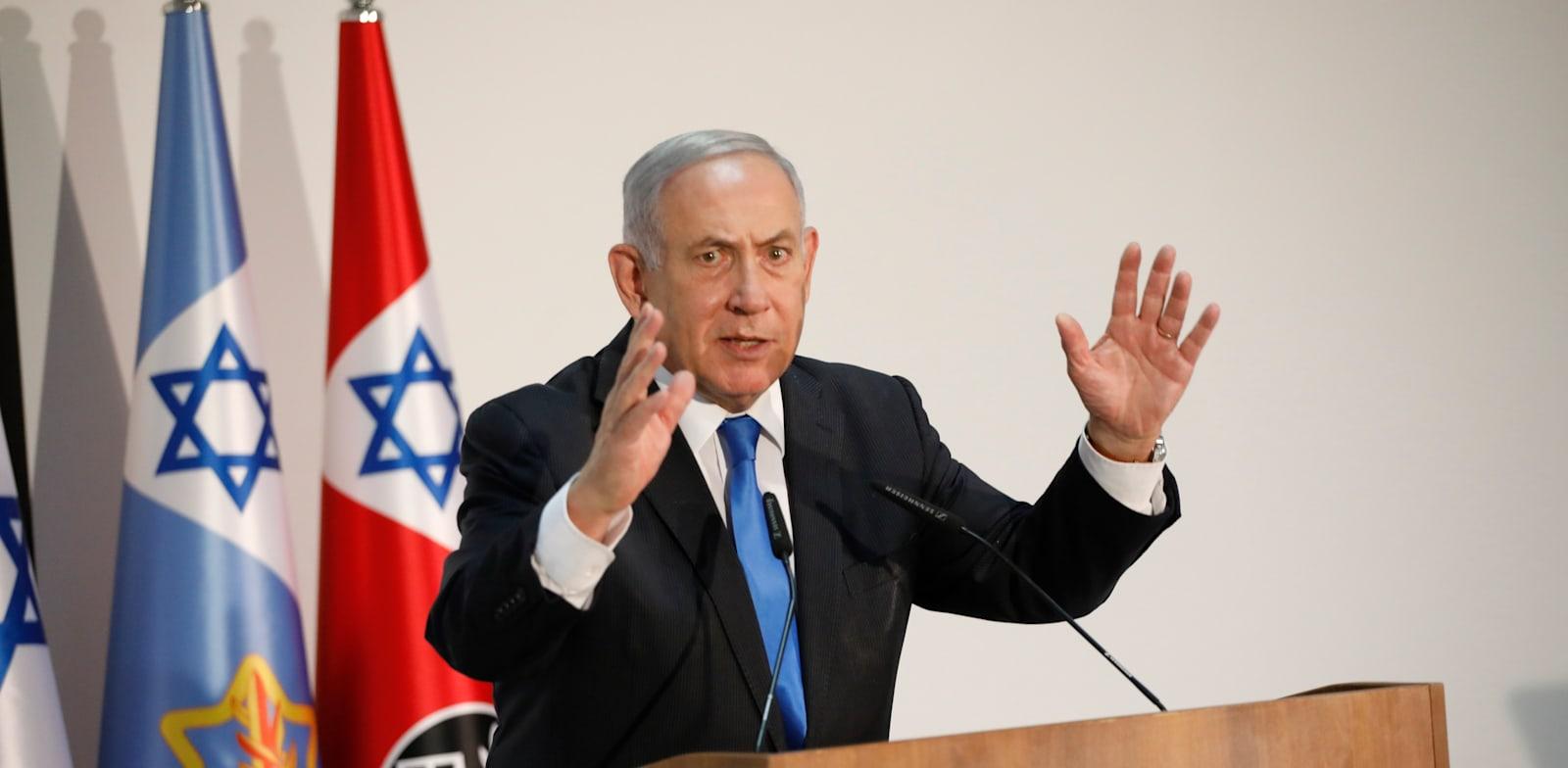 ראש הממשלה בנימין נתניהו / צילום: תומר אפלבאום - הארץ