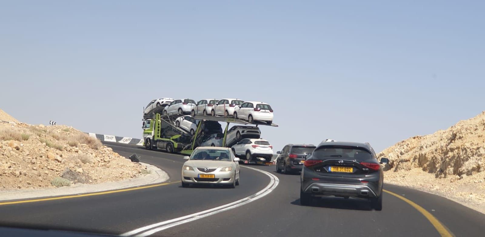 New car deliveries Photo: Bar El