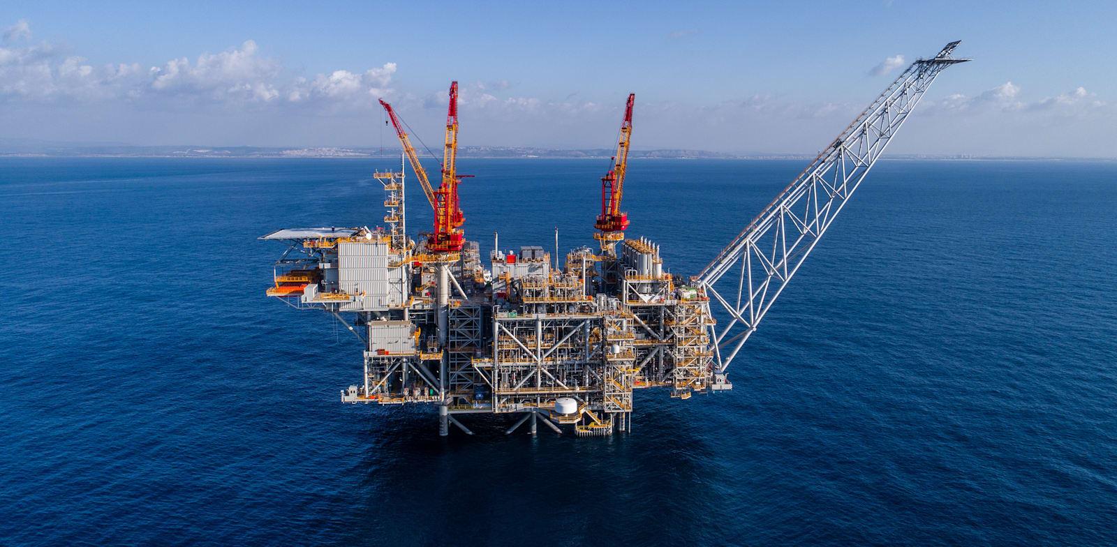 אסדת קידוח גז לוויתן / צילום: אלבטרוס