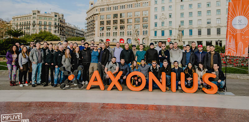 Axonius employees on trip to Barcelona
