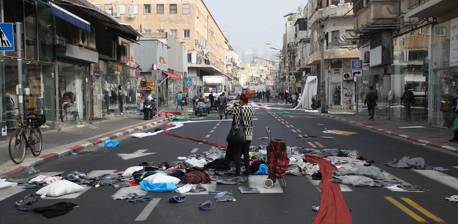 מחאת הסוחרים בינואר. על סף קריסה / צילום: כדיה לוי