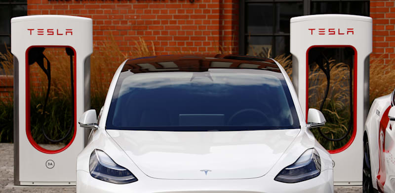 Tesla car  credit: Michele Tantussi, Reuters