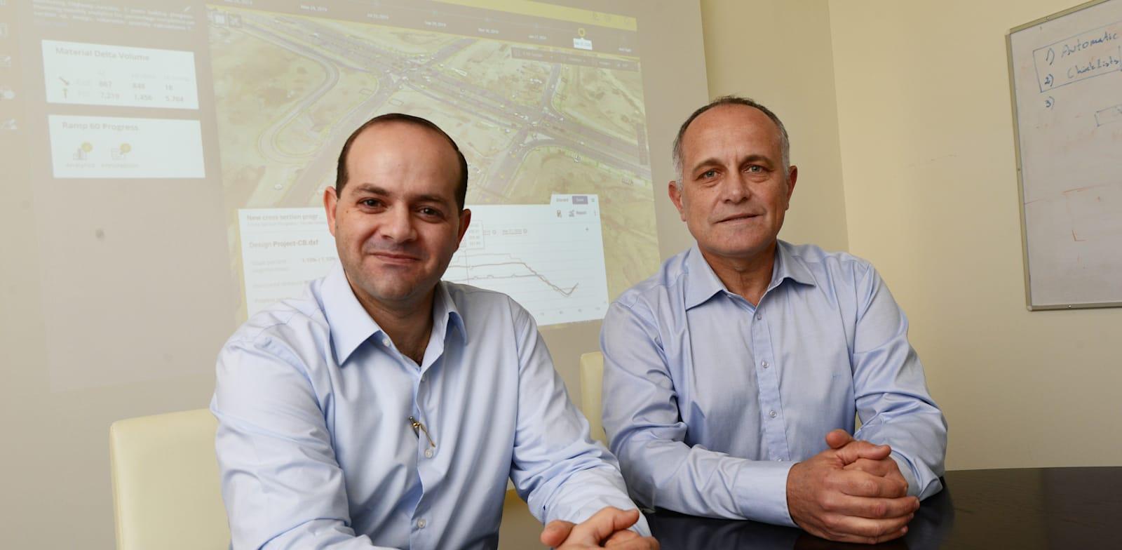 Dr. Jad Jarroush and Tal Meirzon  credit: Eyal Izhar