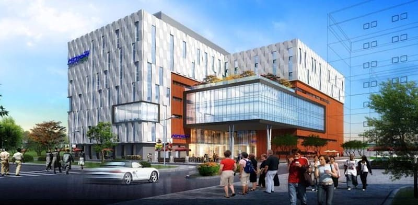 """הדמיה של בית החולים החדש של אסותא בראשון לציון / הדמיה: יח""""צ אסותא"""