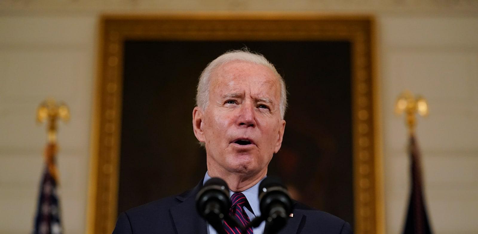 """נשיא ארה""""ב, ג'ו ביידן / צילום: Associated Press, Alex Brandon"""