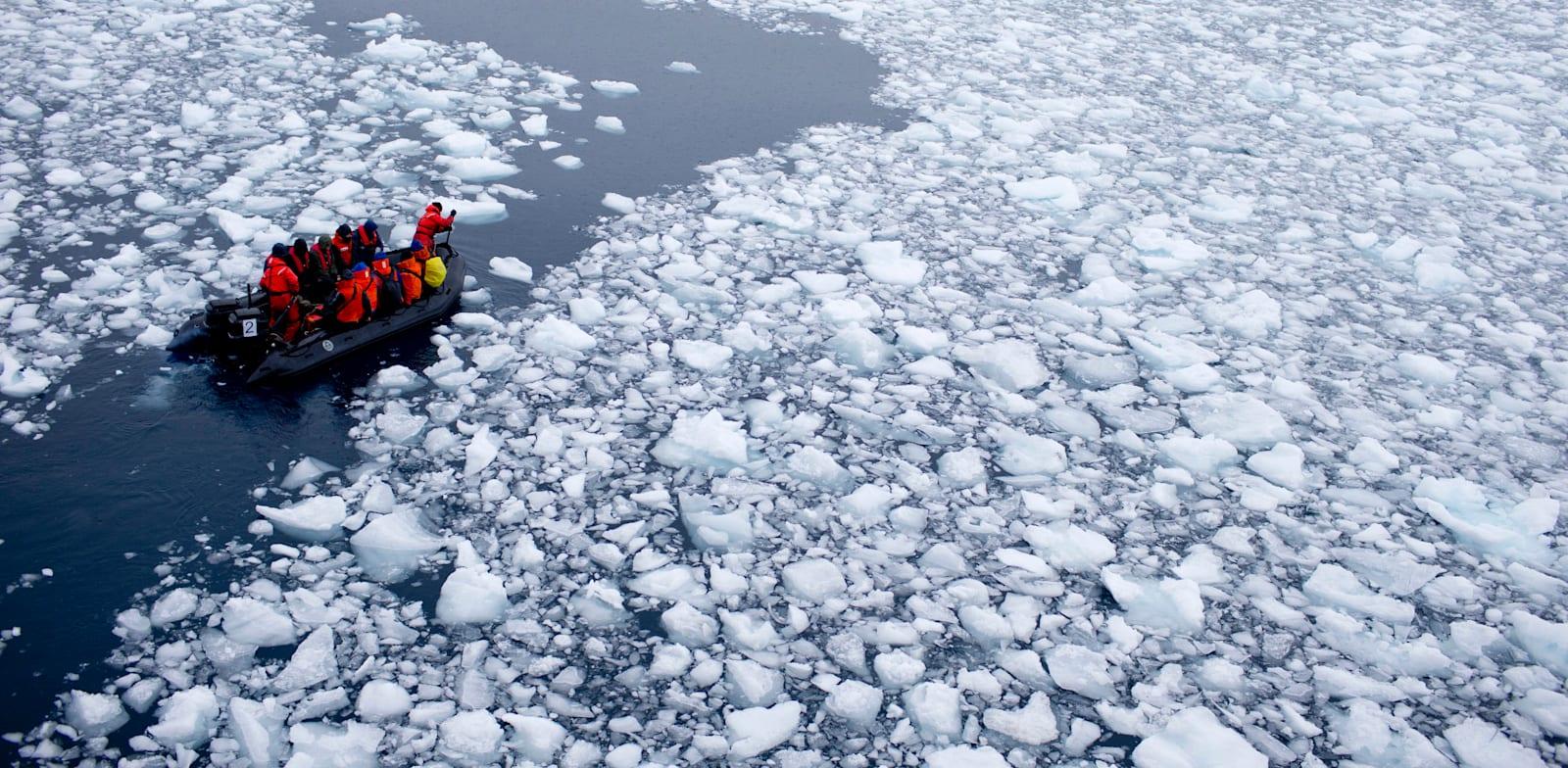 """ה""""גראונד זירו"""" של ההתחממות הגלובלית באנטרטיקה / צילום: Associated Press, Natacha Pisarenko"""