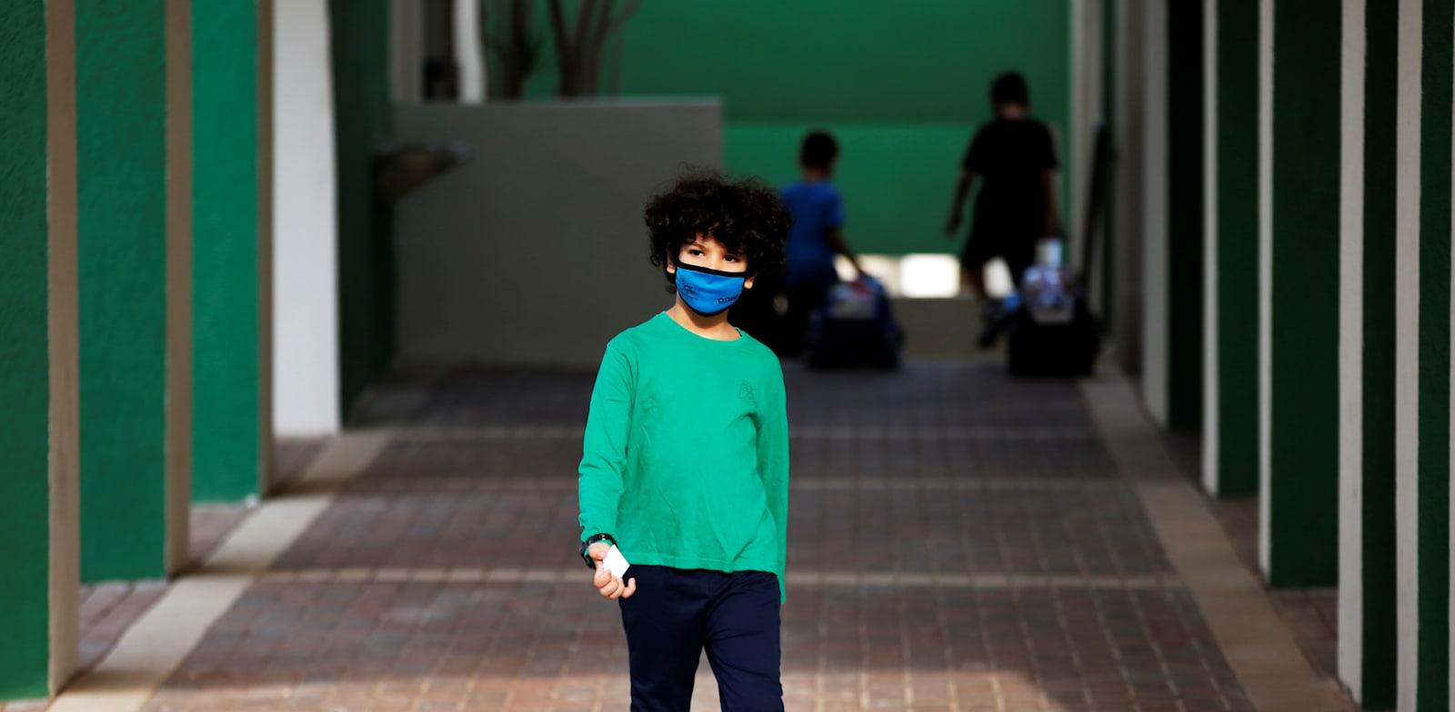 תלמיד בבית הספר לפני הסגר האחרון / צילום: Reuters, Ronen Zvulun