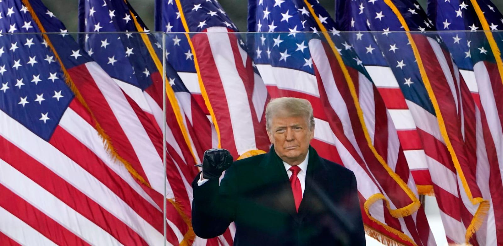 דונלד טראמפ בעצרת שקדמה למהומות בוושינגטון / צילום: Associated Press, Jacquelyn Martin