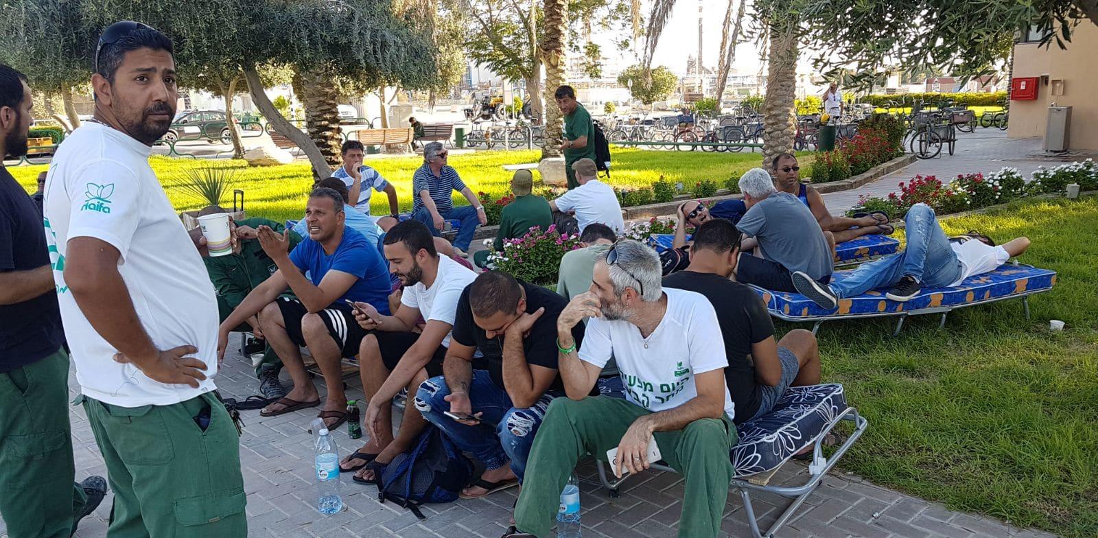 עובדי חיפה כימיקלים בעת המחאה ב-2017 לפני סגירת המפעל בצפון / צילום: דוברות ההסתדרות