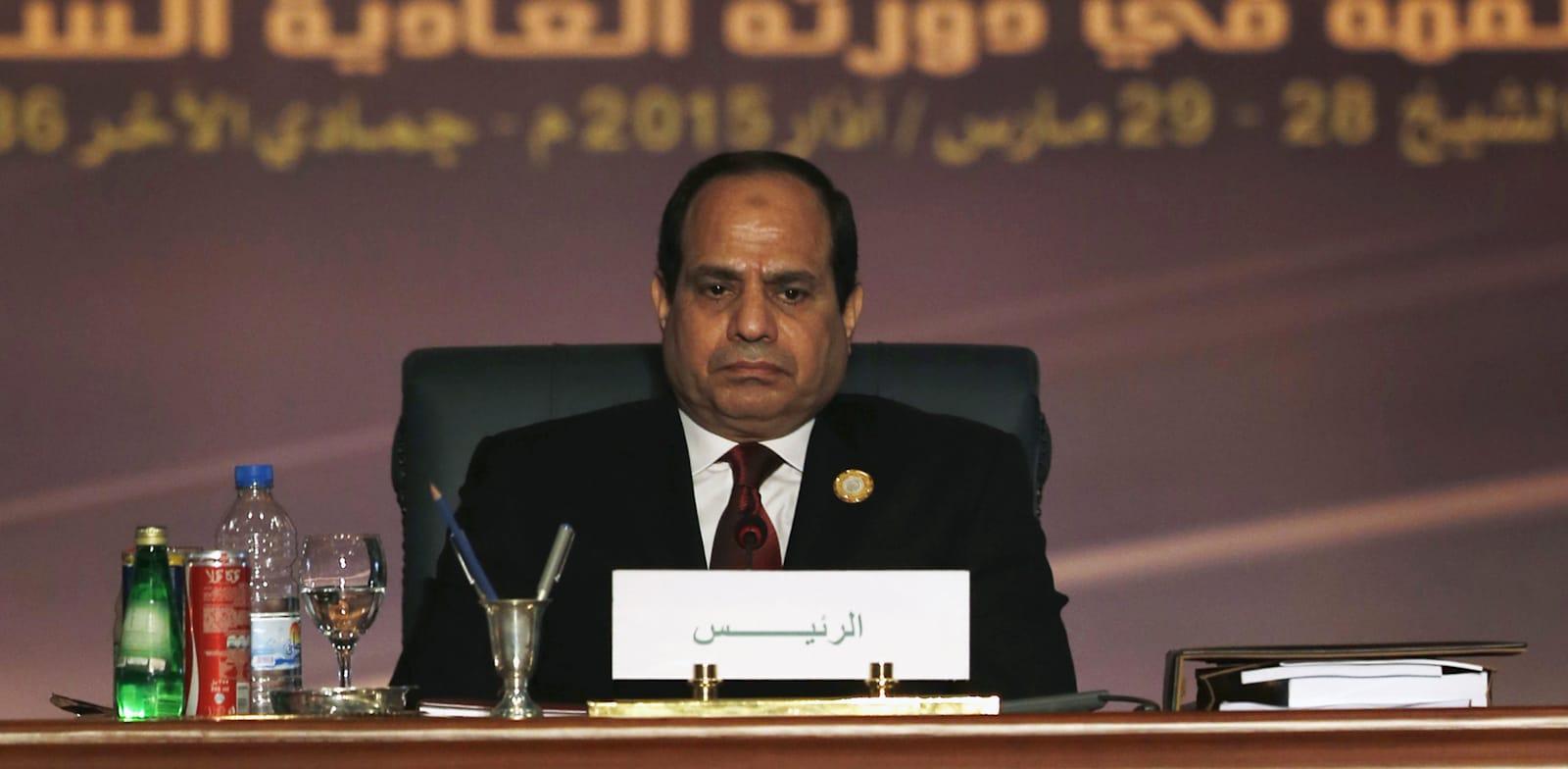 """עבד אל פתאח סעיד חוסיין ח'ליל א-סיסי, נשיא מצרים / צילום: יח""""צ"""