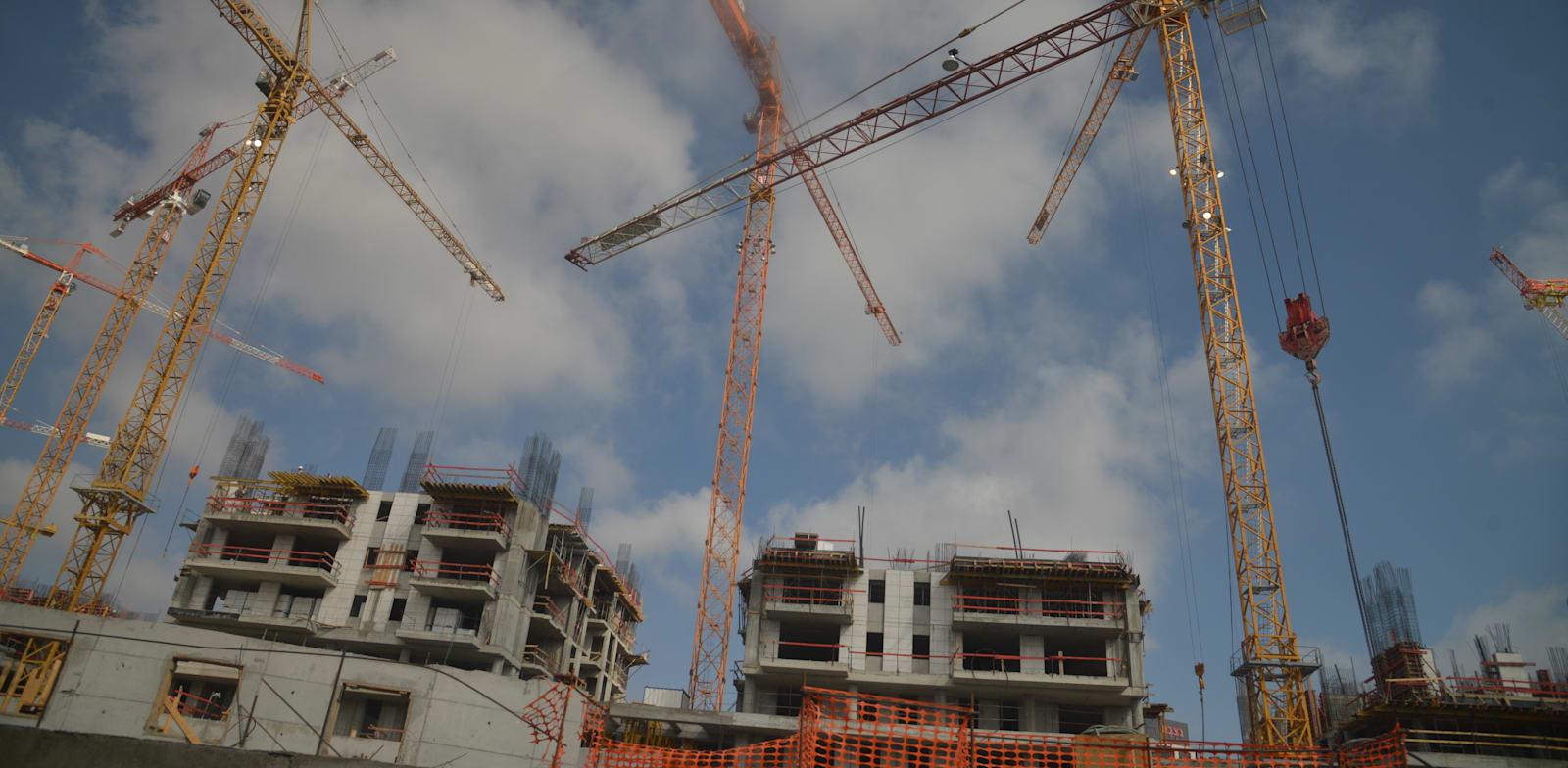 מנופים, אתר בנייה / צילום: תמר מצפי