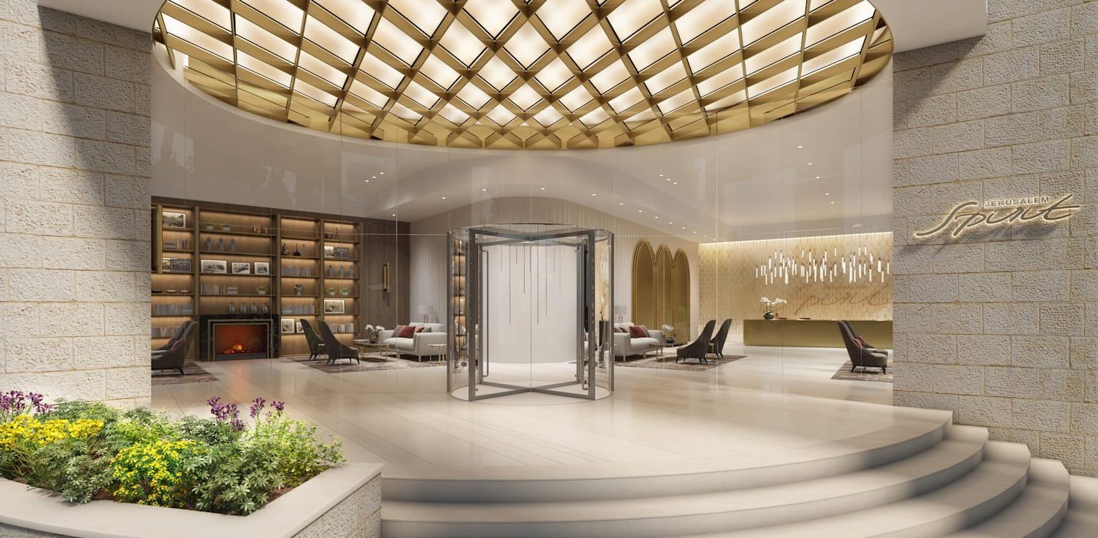"""כניסה לבניין בפרויקט """"ג'רוזלם ספיריט"""" / הדמיה: Viewpoint"""