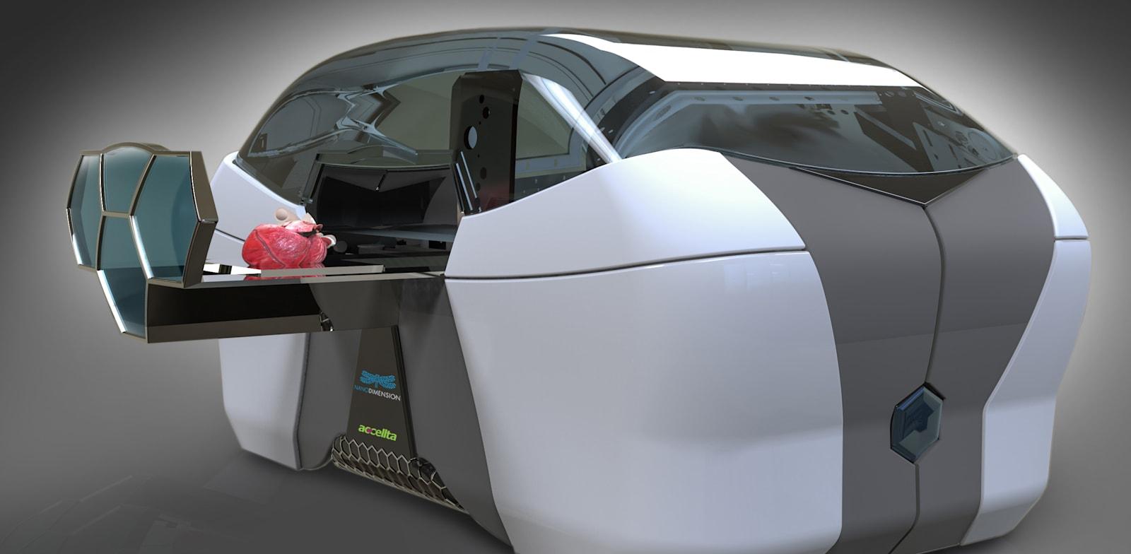 """מדפסת תלת-ממד של חברת ננו דיימנשן / צילום: יח""""צ"""