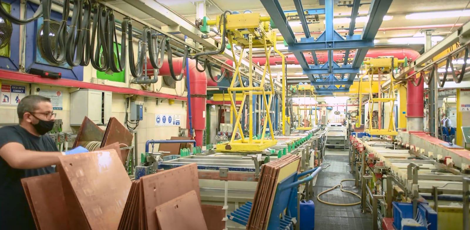 מפעל חברת פי.סי.בי טכנולוגיות / צילום: מתוך סרטון יוטיוב של PCB Technologies