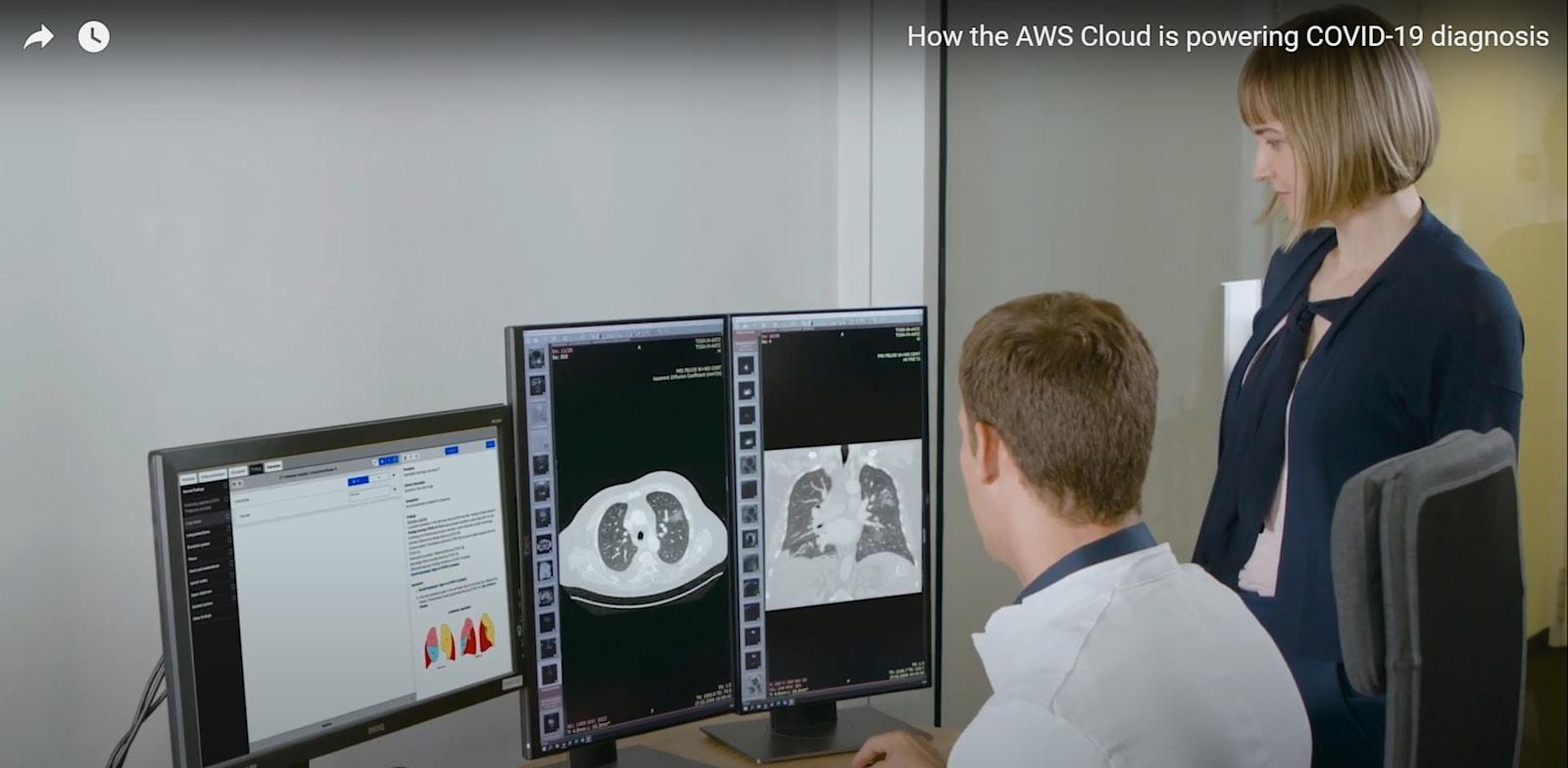 שיתוף פעולה של חברות מגרמניה והולנד,בתמיכת פרויקט אבחון הקורונה של AWS / צילום: מתוך  סרטון יוטיוב של SWA