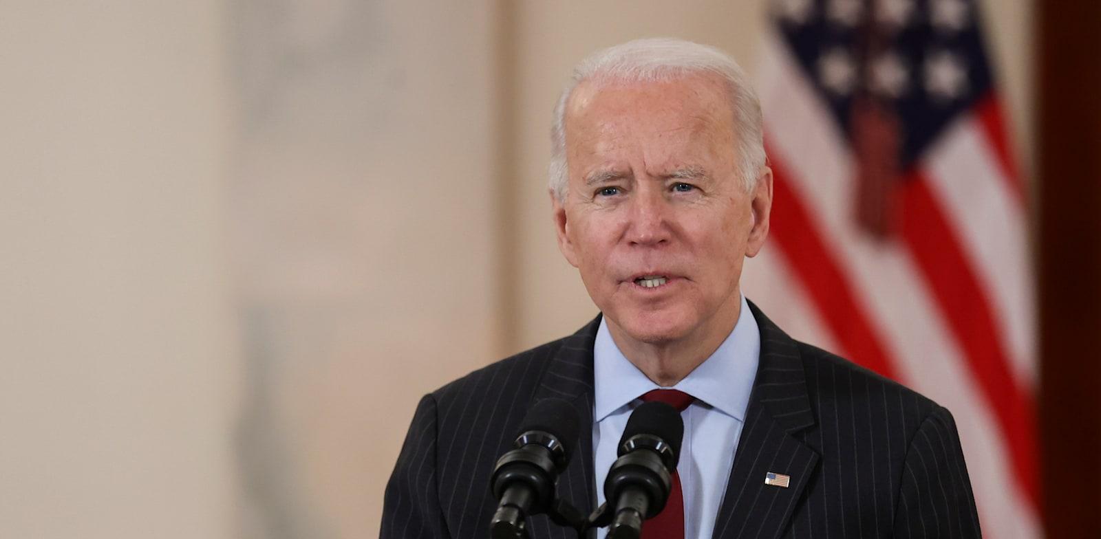"""נשיא ארה""""ב,  ג'ו ביידן / צילום: Reuters, JONATHAN ERNST"""