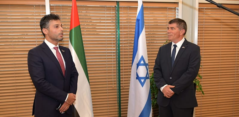Israel's Foreign Minister and UAE Ambassador Credit: Foreign Ministry