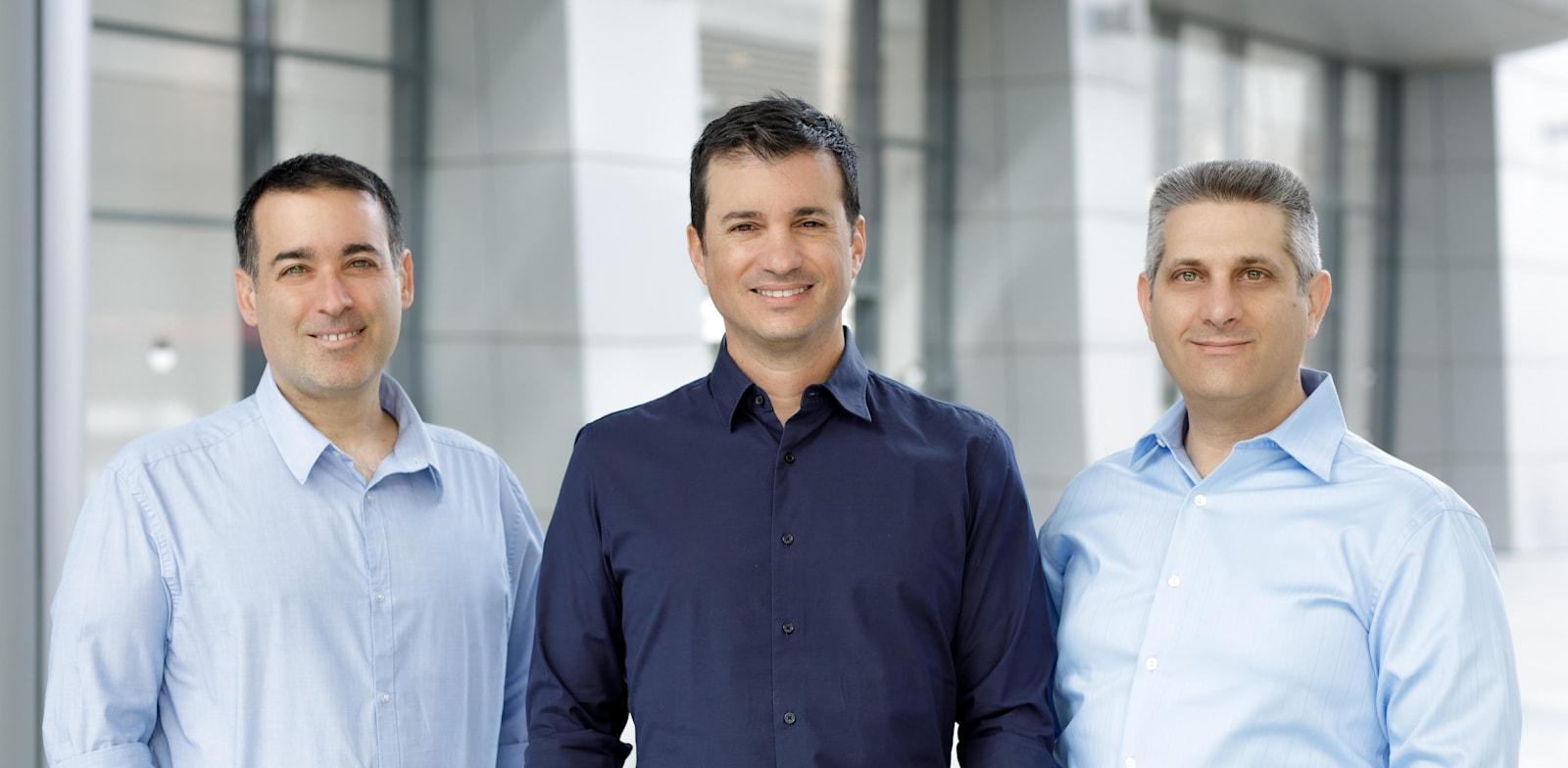Identiq founders Ido Shilon, Itay Levy and Uri Arad Credit: Omer Hacohen