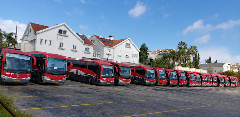 Dan bus depot in Ramat Hahayal  credit: Eyal Izhar