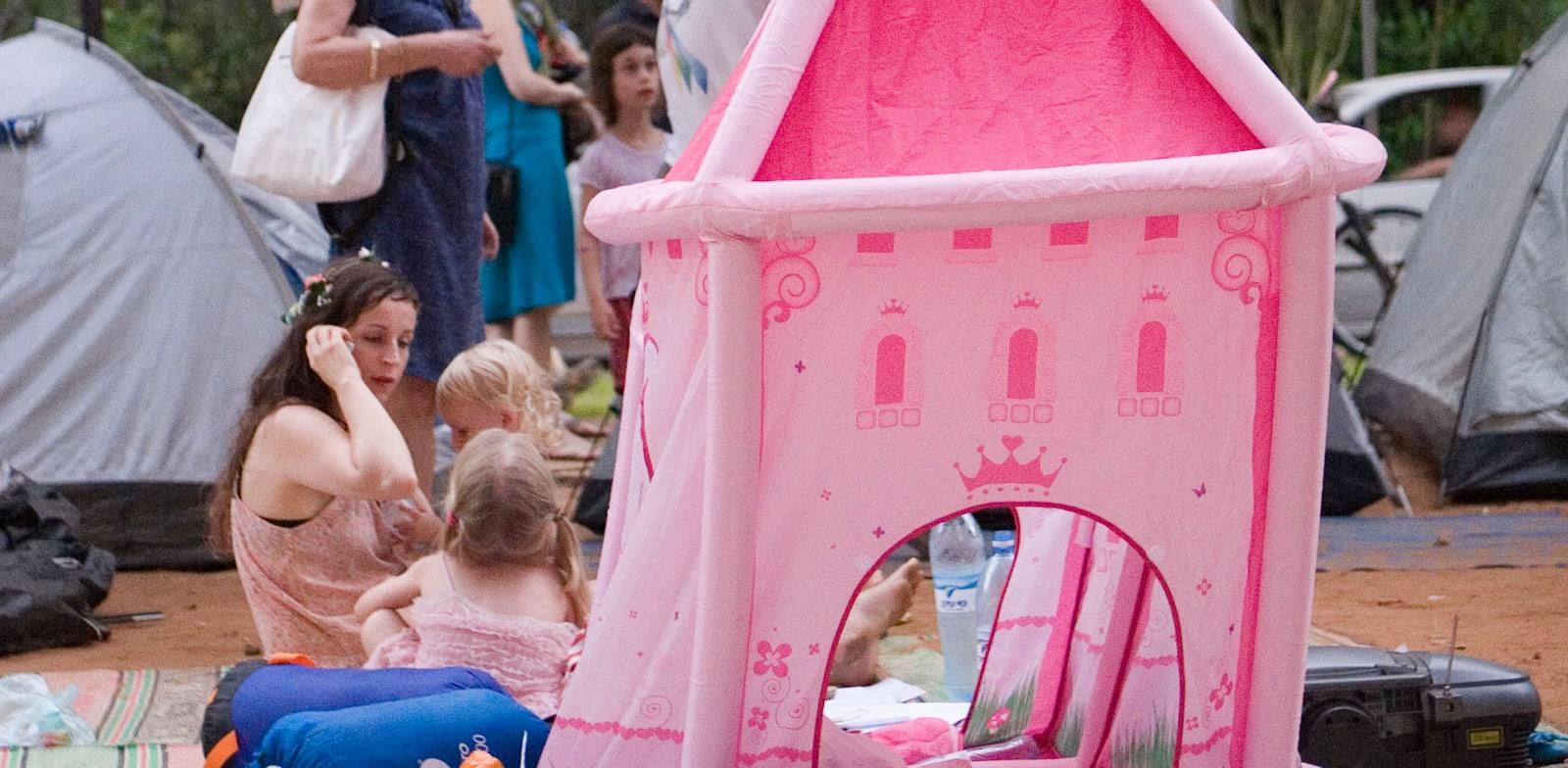 אוהלי מחאה בשדרות רוטשילד בתל אביב / צילום: שלומי יוסף