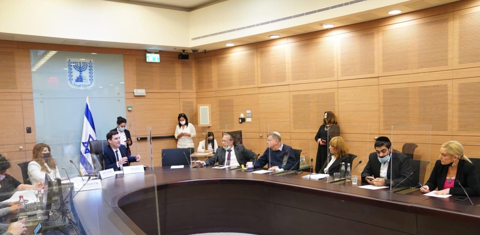 דיון בוועדת הכנסת על הצעת חוק למיסוי רווחים ממשאבי טבע / צילום: דני שם טוב, דוברות הכנסת