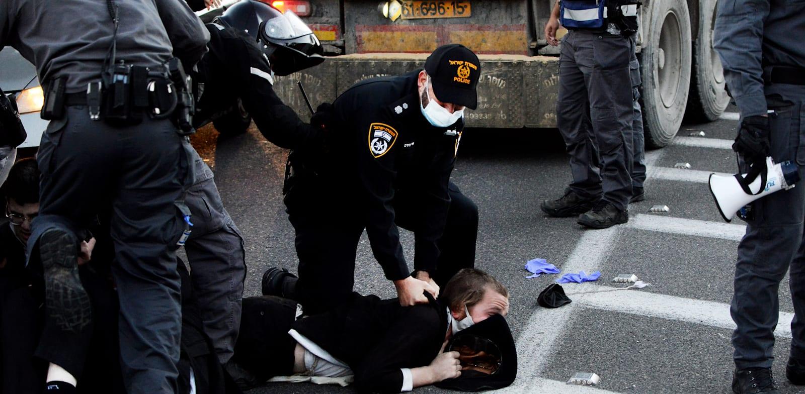 הפגנת חרדים בני ברק / צילום: איל יצהר