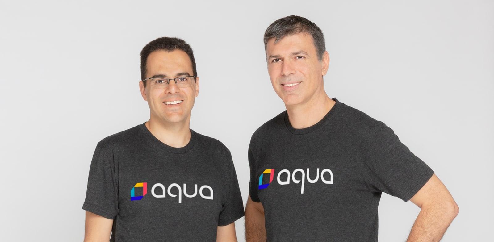 """מימין: דרור דוידוף, מנכ""""ל ומייסד משותף באקווה סקיוריטי, ואמיר ג'רבי, סמנכ""""ל טכנולוגיות ראשי (CTO) ומייסד משותף / צילום: יח""""צ אקווה סקיוריטי"""