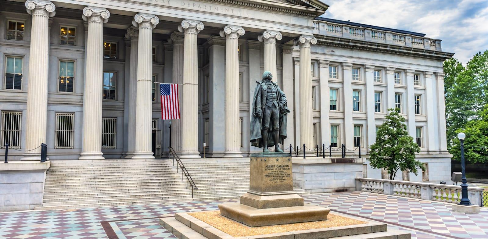 """בניין משרד האוצר בוושינגטון, ארה""""ב / צילום: Shutterstock, Bill Perry"""