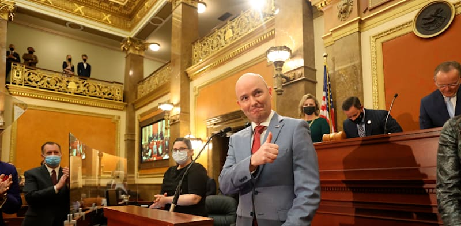 מושל מדינת יוטה, ספנסר קוקס / צילום: Associated Press, Jeffrey D. Allred