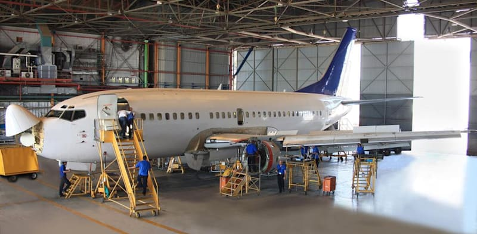 Israel Aerospace aircraft maintenance Credit: IAI