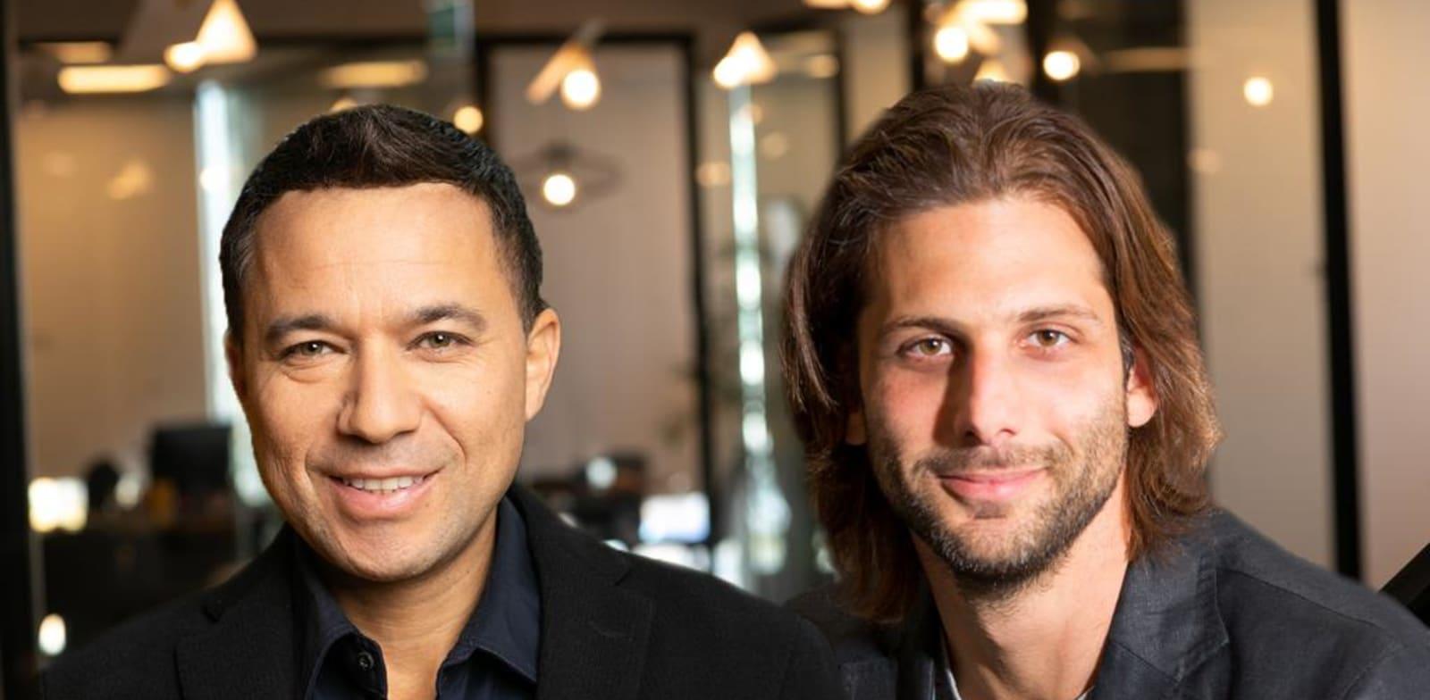 מימין: עופר יהודאי וזיו אלול, מנהלי fyber הישראלי / צילום: טל שחר