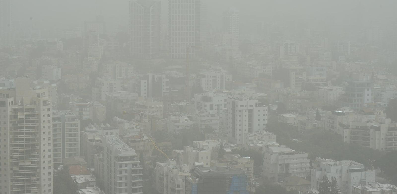 זיהום אויר ת''א / צילום: איל יצהר