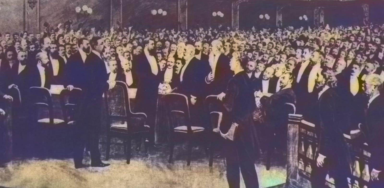 הקונגרס הציוני הראשון / צילום: מתוך ויקיפדיה