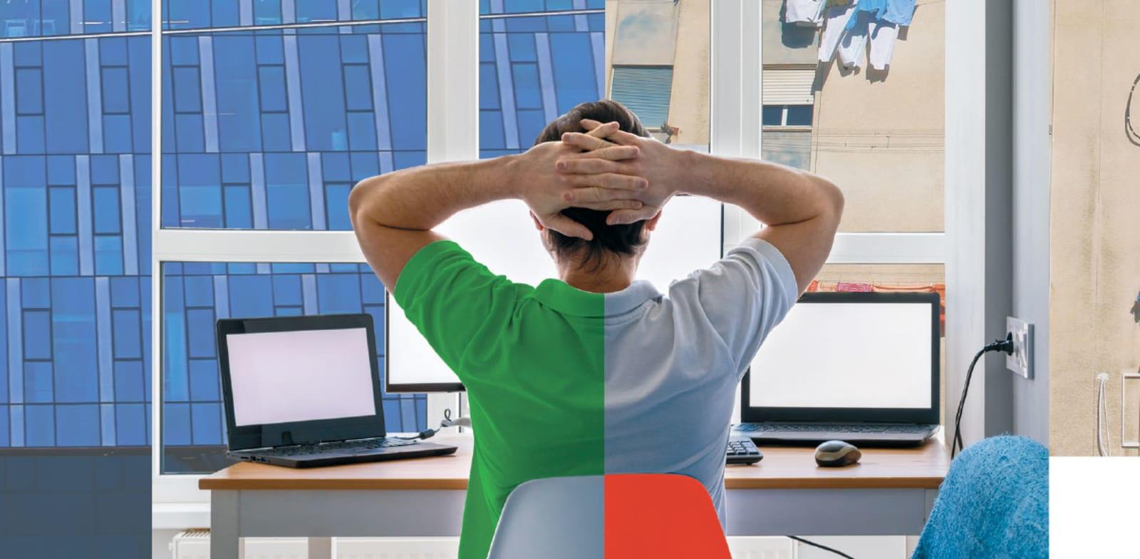 עבודה משולבת מהבית ומהמשרד / צילום: Shutterstock