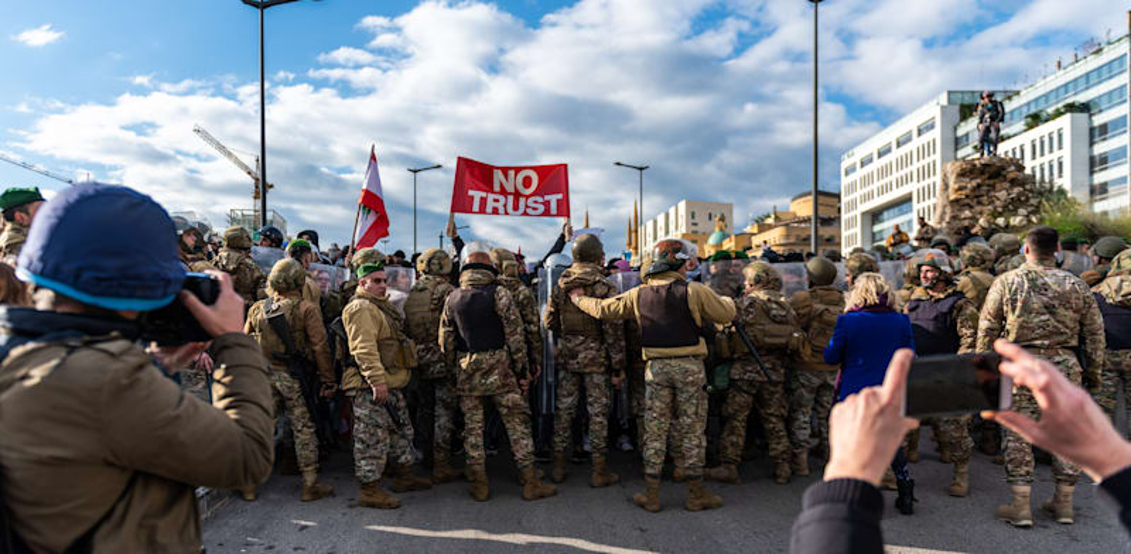 מחאה נגד הממשל בלבנון / צילום: Shutterstock