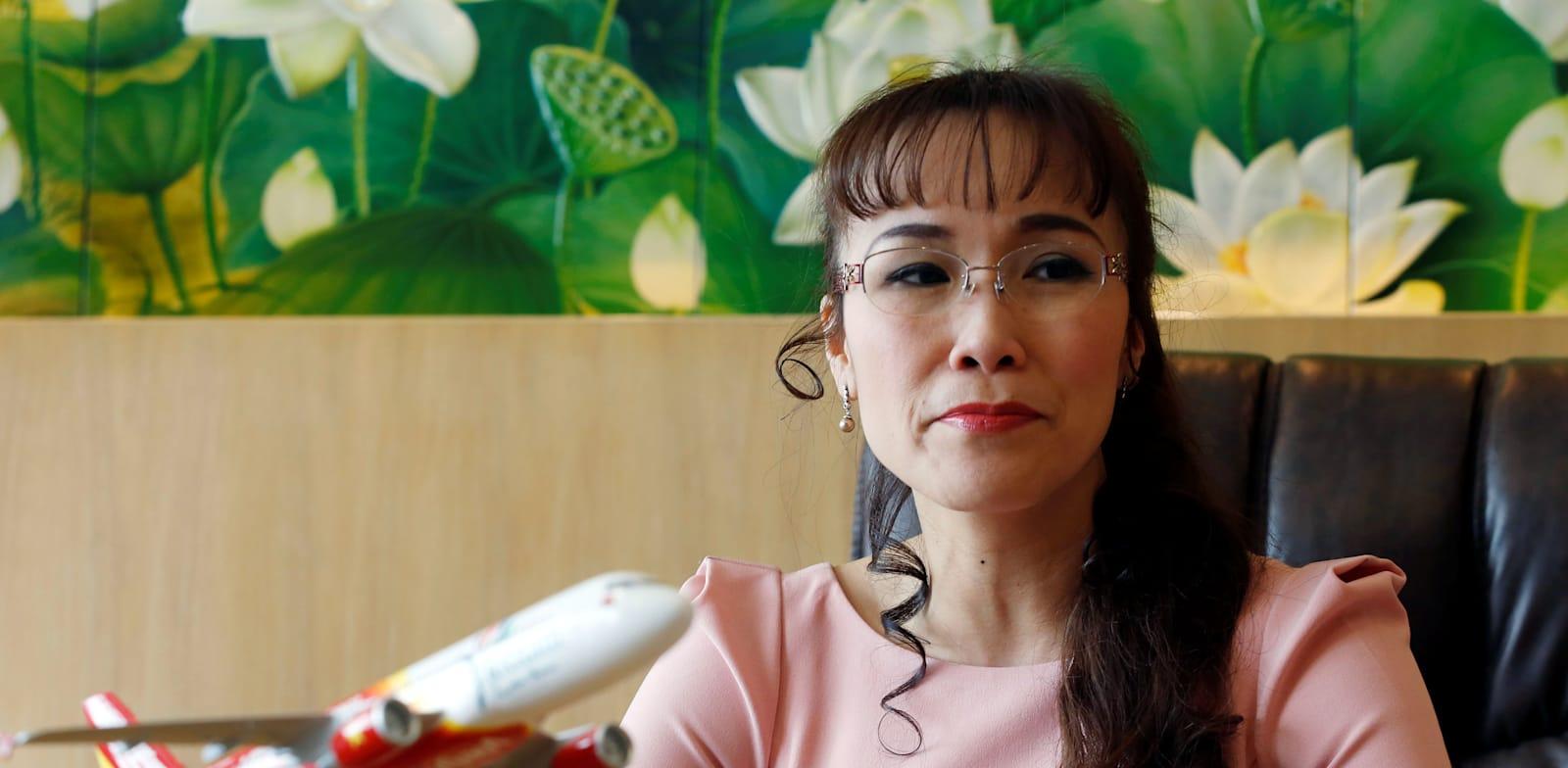 """מנכ""""לית VietJet, נגווין טי פונג ת'או. רווחיות גם בשנת הקורונה / צילום: Reuters, Kham"""