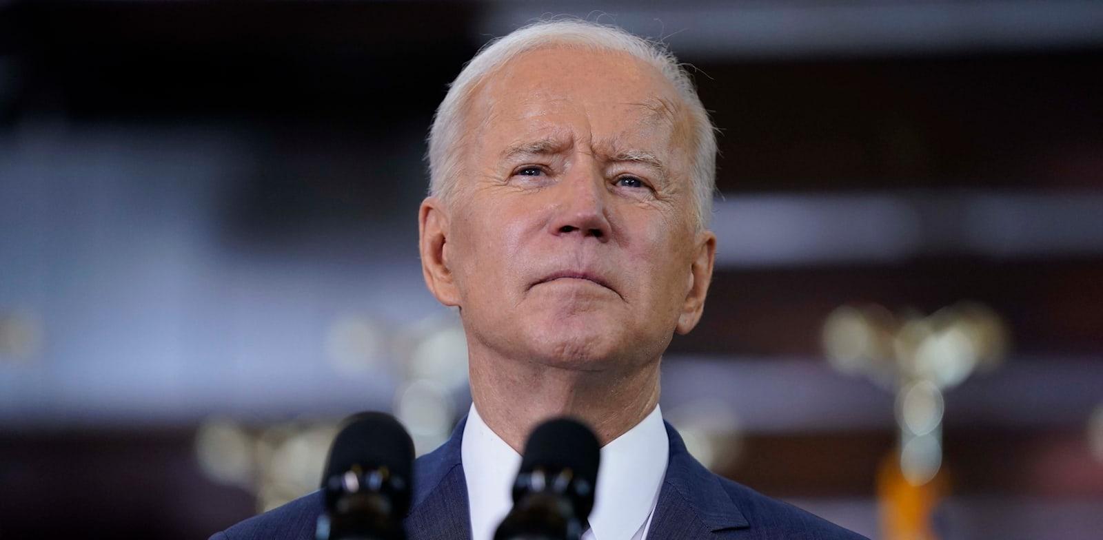 """נשיא ארה""""ב ביידן. הקצה מיליארדים / צילום: Associated Press, Evan Vucci"""