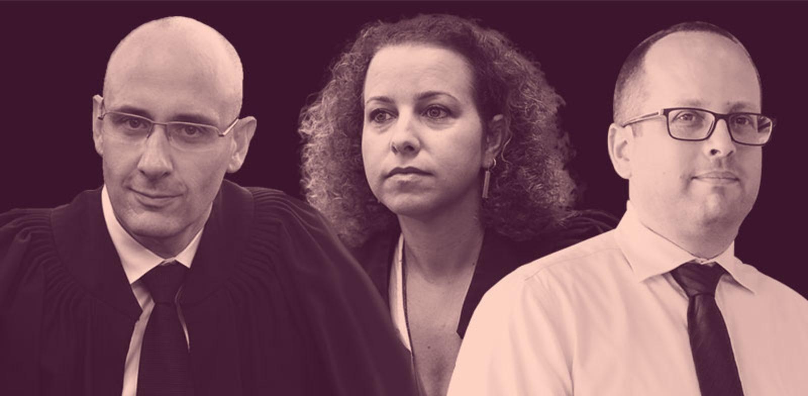 עורכי הדין אמיר טבנקין, יהודית תירוש ויהונתן תדמור / צילום: שלומי יוסף, תמר מצפי