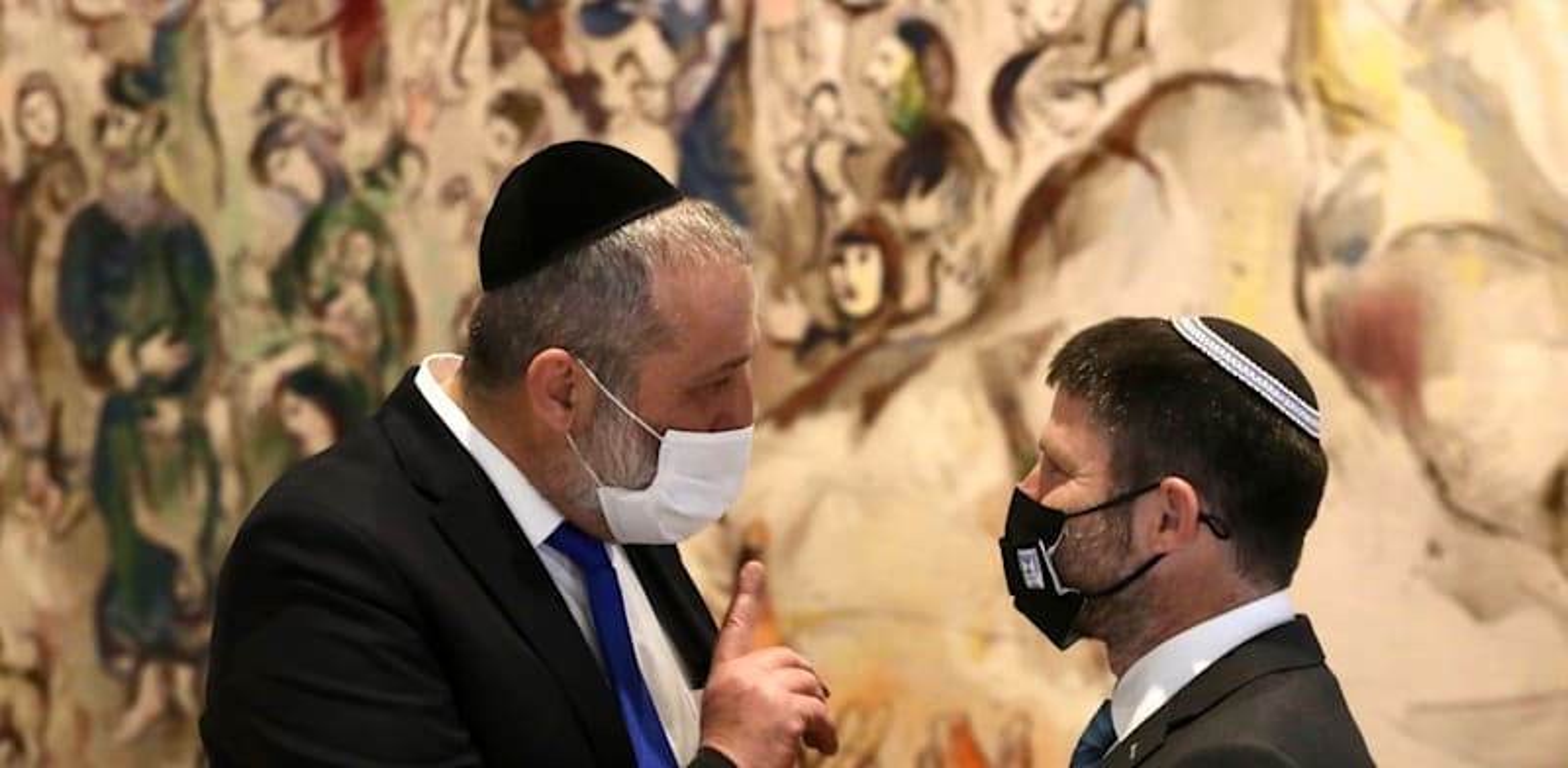 סמוטריץ' ודרעי בטקס ההשבעה של הכנסת ה־24 / צילום: מארק ישראל סלם - הג'רוזלם פוסט