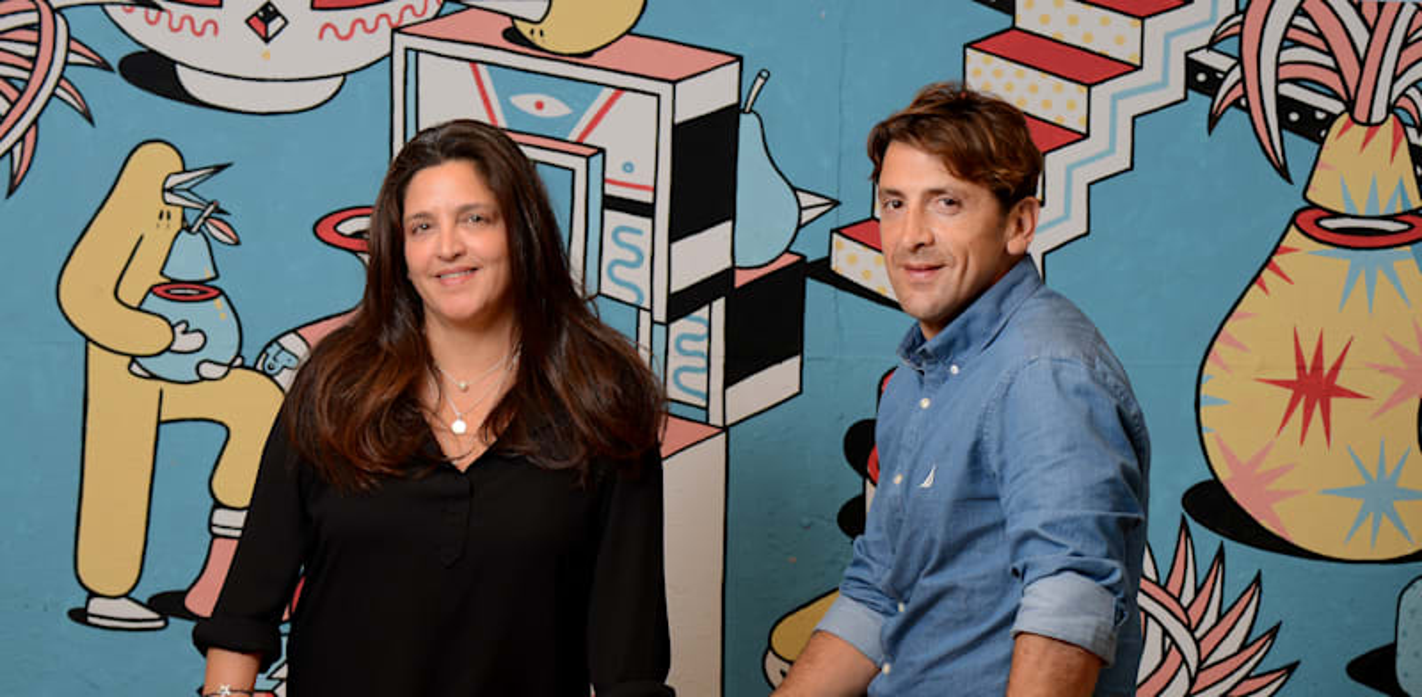 סיון בלסנהיים ועמליה פז, ממייסדי קהילת בריקס / צילום: איל יצהר