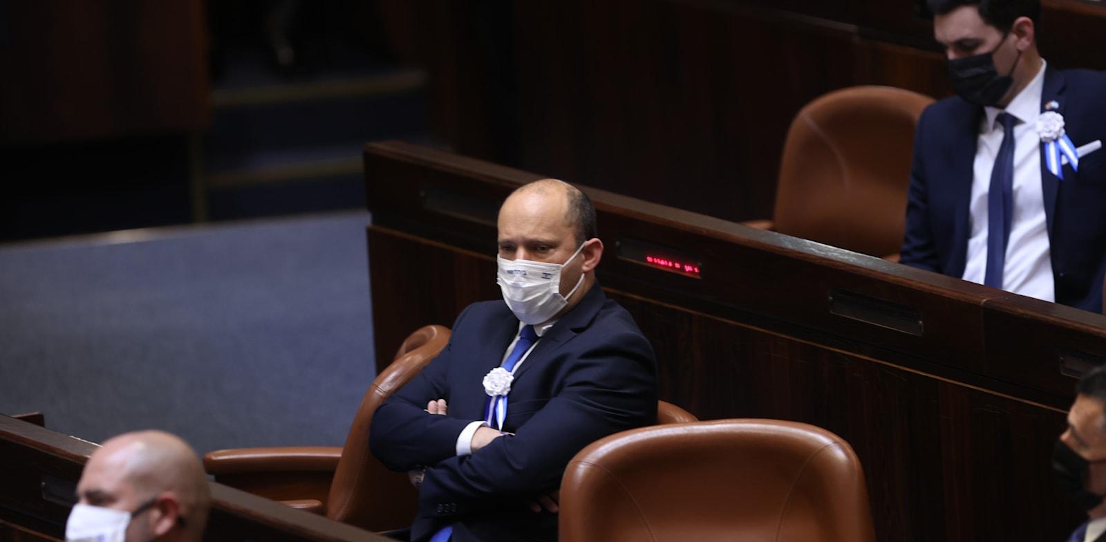 נפתלי בנט בהשבעת הכנסת / צילום: אלכס קולומויסקי-ידיעות אחרונות