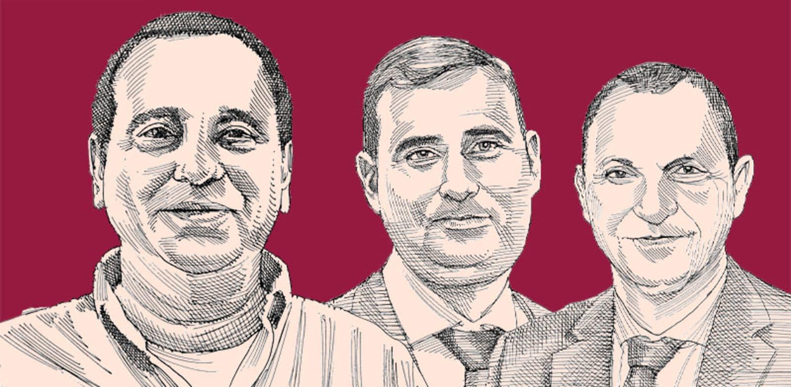 האחים דיין וקובי מימון. סכסוכים מתגלגלים מבתי המשפט לענייני משפחה לרשות המסים / איור: גיל ג'יבלי