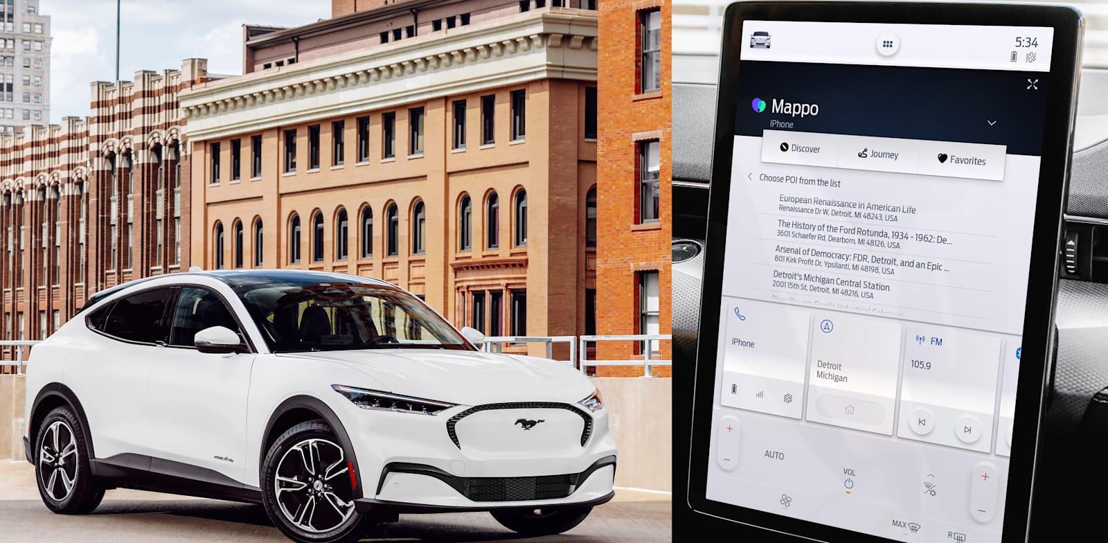 """מתוך האפליקציה מאפו למכוניות פורד / צילום: יח""""צ מאפו"""